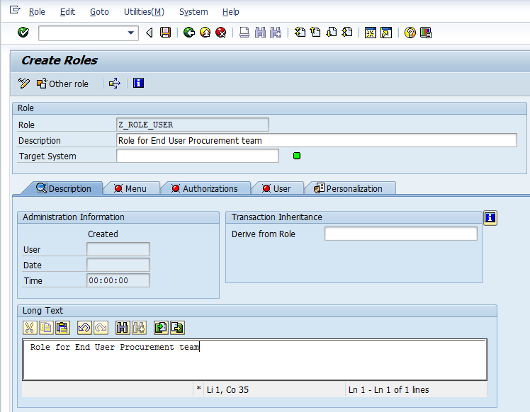How to create User Roles in SAP Security systems