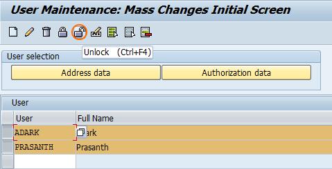 User Mass Maintenance using SU10 - UnLock