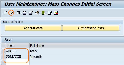 User Mass Maintenance using SU10 - change data