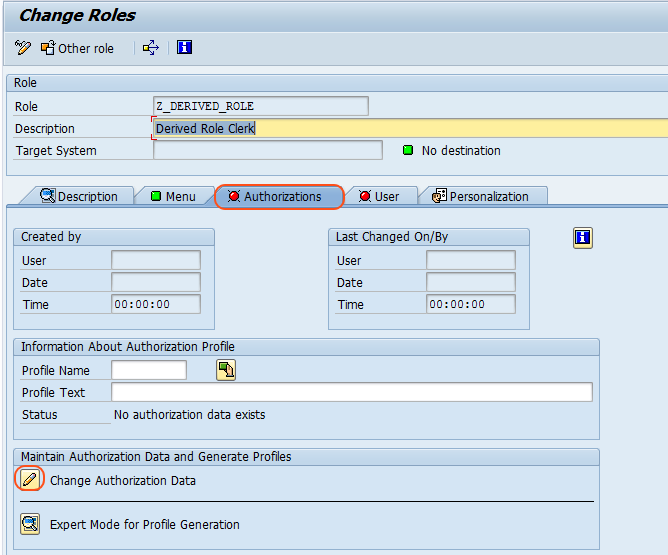 What is Derived Roles and how to create in Security authorization data