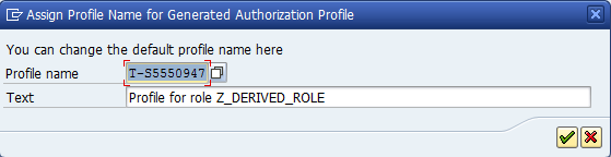 assing profile name to generate profile