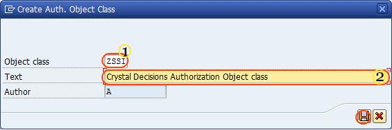 create authorization object class