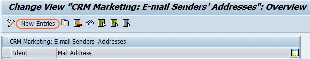 CRM marketing E-mail senders address