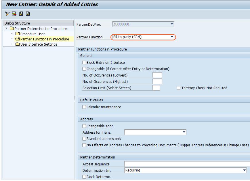 How to Define partner determination procedure in SAP CRM