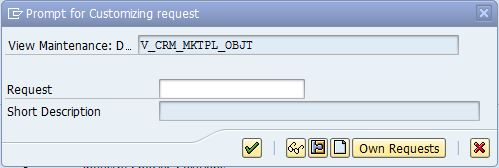 Prompt for customzing request number.