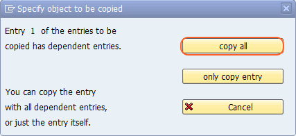Specify objects to be copied.