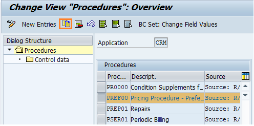 create new pricing procedure in SAP CRM
