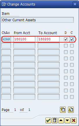 Assign Gl accounts in Financial Statements Versions