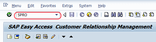 CRM Transaction code SPRO