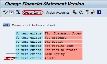 create financial statement versions