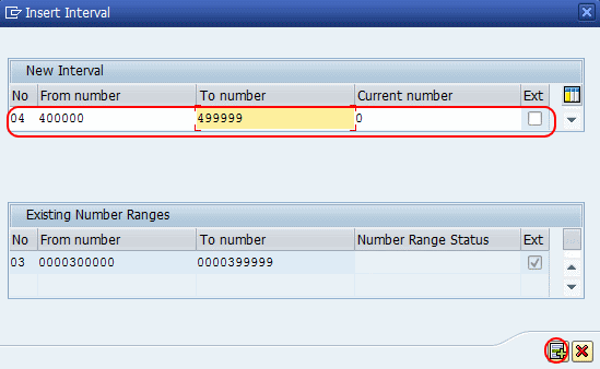 Define Number Ranges for CRM Service Transaction