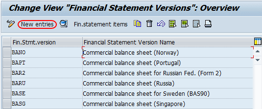 financial statement versions fsv overview