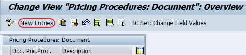 SAP CRM document pricing document procedure