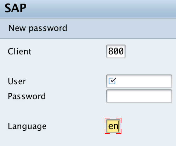 SAP Login and Password Change