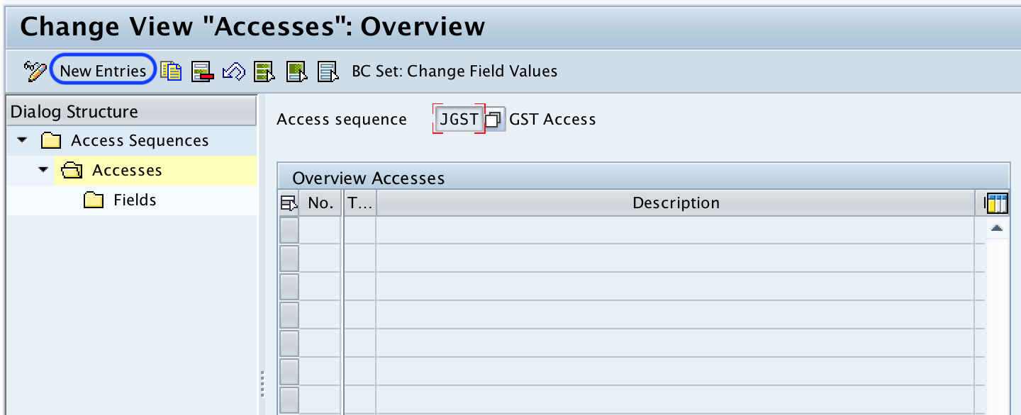 Define Access Sequence in SAP For GST - SAP Training Tutorials