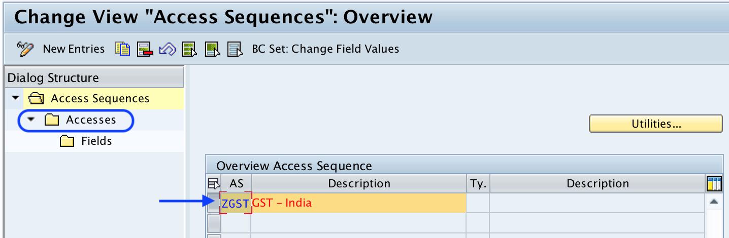 Define Access Sequence in SAP For GST - SAP Training Tutorials