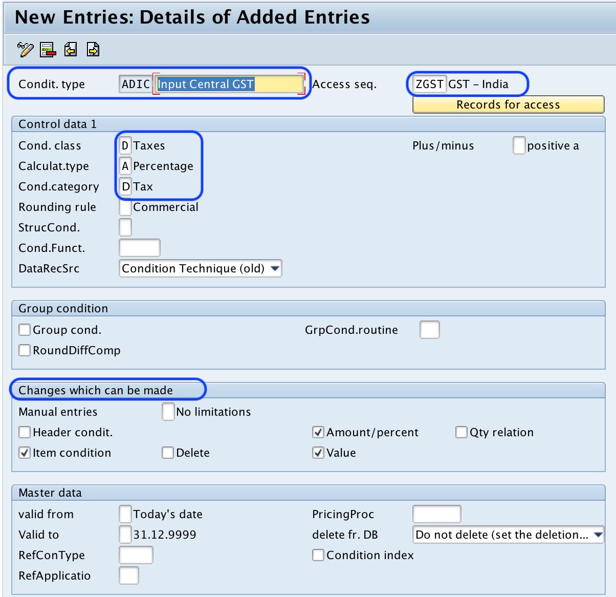 Sap Training Best Online Tutorials Software Mm Material Management Define Condition Types In For Gst