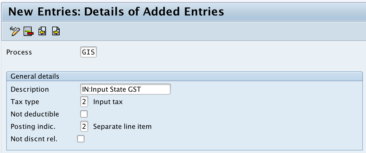 Define Tax Account keys in SAP for GST (Tax Processing in Accounting)